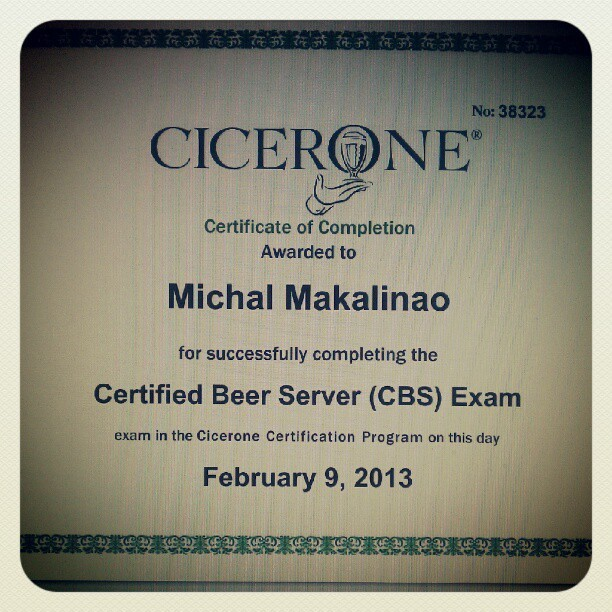 3am, drank a #Surly Coffee Bender and passed the #Cicerone certified #beer server exam in 13 minutes. Only got 4 questions wrong out of 60. They were the sneaky ones.
