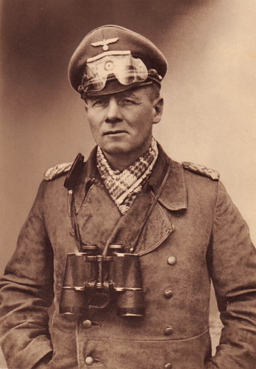 reichsmarschall:  Erwin Johannes Eugen Rommel  Wüstenfuchs World War I First Battle of the Argonne (1915) Masivul Lesului and Oituz Campaigns (1916-1917) Battle of Caporetto (1917) World War II Invasion of Poland Fall of France Battle of Arras (1940)  North African Campaign Siege of Tobruk (1941) Operation Crusader (1941) Battle of Gazala (1942) Battle of Bir Hakeim (1942) First Battle of El Alamein (1942) Battle of Alam Halfa (1942) Second Battle of El Alamein (1942) Battle of the Kasserine Pass (1943) Battle of Medenine (1943)  Battle of Normandy (1944)