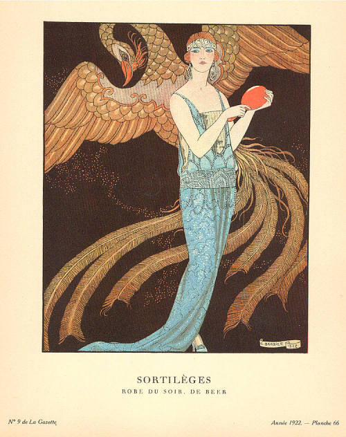 """ Lovers ""        ""   Gazette du Bon Ton Sortilèges (1922)  ""                                             by  George Barbier  Thank you to   Cmicheleh for posting this wonderful graphic."