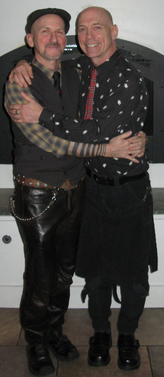 We were married after 21 years together on our actual anniversary. This is our wedding Portrait. I'm wearing my vintage Boy Of London black corduroy bondage trousers.