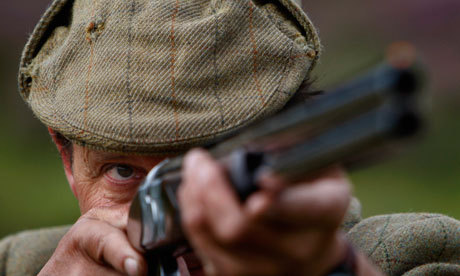 thegentlemansstudy:  toptoff: A Shooter watching his grouse target