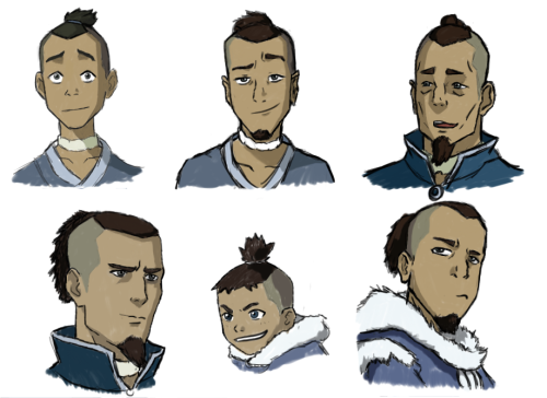themathemusician:  Sokka, at various ages.