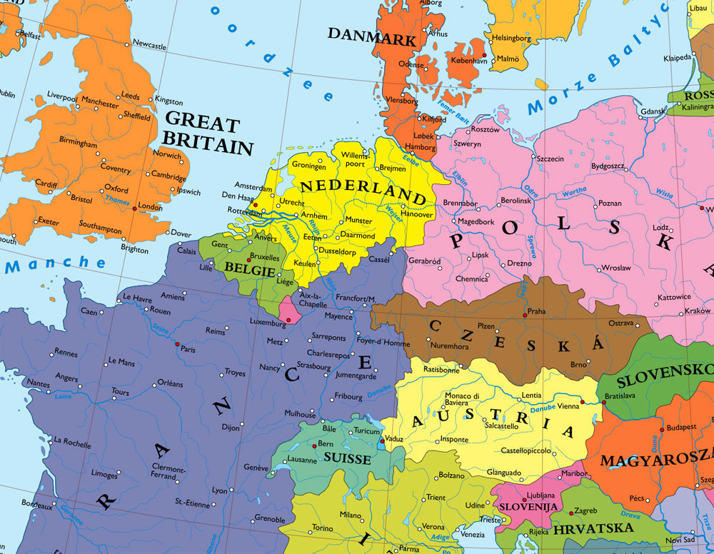 PostWar Europe without Germany Calculating Maps on the Web – Germany Europe Map