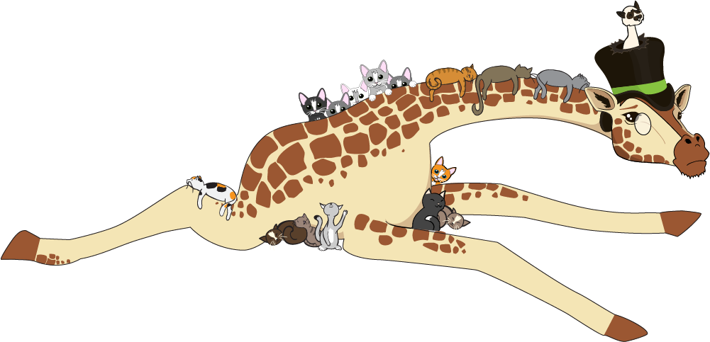 "The ""imgur over capacity"" imguraffe illustration I designed for imgur.com.  You can't be made when imgur is bogged down with so much cuteness, right?"