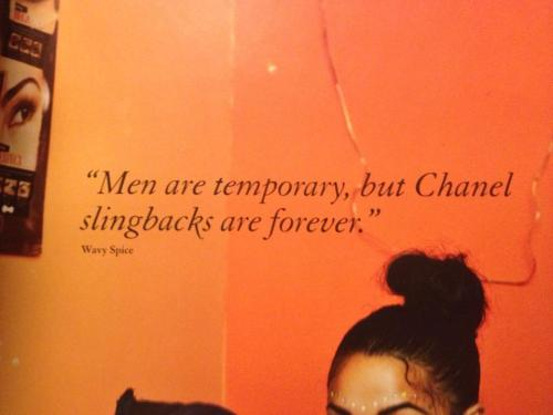 sistermagazine:  pull quote from Wavy Spice in current issue of Twin  HALLELU, HALLELU