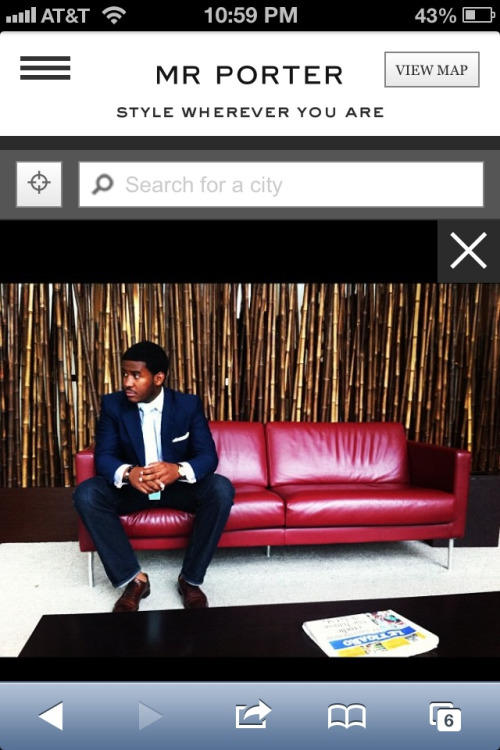 "Just found out that @MRPORTERLIVE featured me in their ""Style Wherever You Are Campaign"" Check it out & cast a vote!  http://mrporterglobalstyle.com/style/paris/1563"