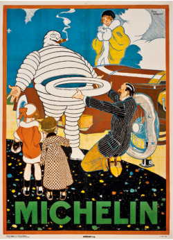RENÉ VINCENT (1879-1936) MICHELIN lithograph in colours, c.1925, printed by Draeger