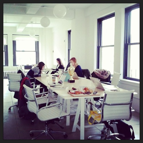 We're having a blast touring the beautiful new @food52 headquarters in NYC today! (A live Instagram snapshot from the Test Kitchen. http://instagr.am/p/Vb9X4zrkal/)