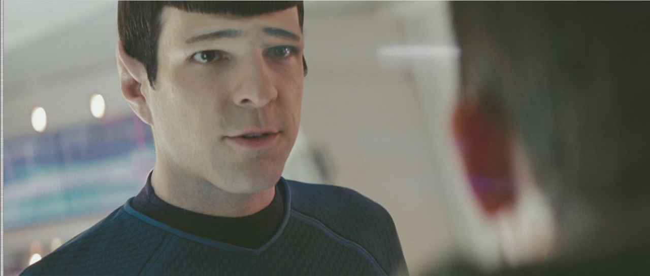 ophelias-ghost:  Star Trek AU in which everything is the same except Spock's eyebrows are pointed the opposite direction  i die