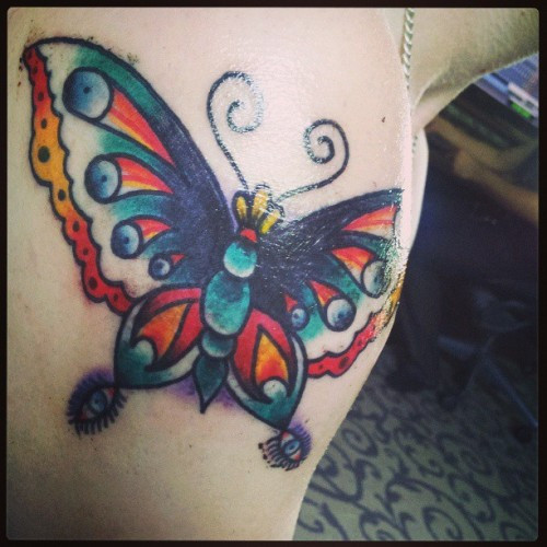 @haleyrima #tattoo #hashtagging #butterfly #yes #stabmeagain