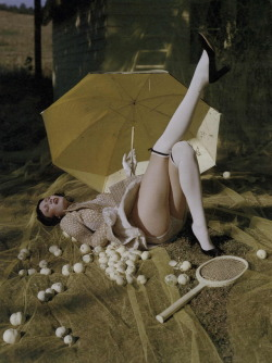 "kloss-karlie:  ""Where troubles melt like lemon drops"" for W Magazine by Tim Walker"