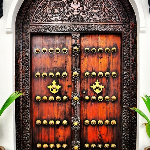 triphackr:  The doors of #Zanzibar are beautiful. Would love to call this my front door