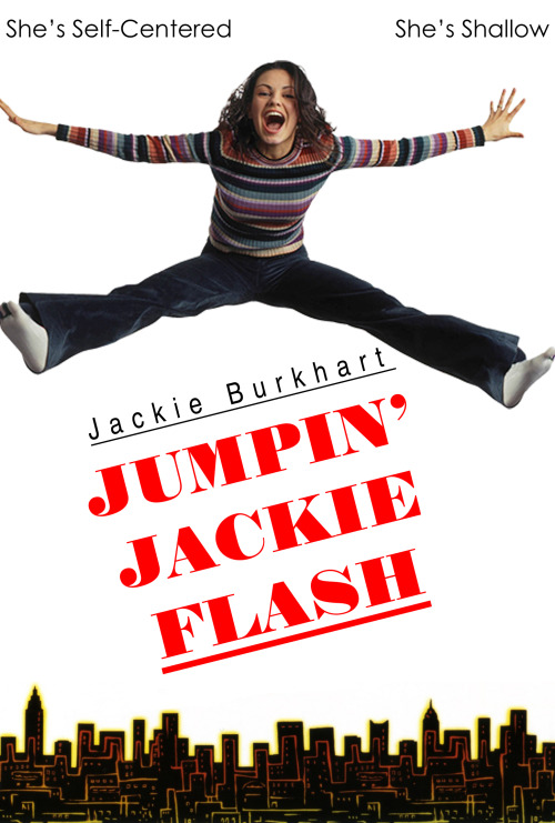 a so-so parody of the Jumpin' Jack Flash posters.