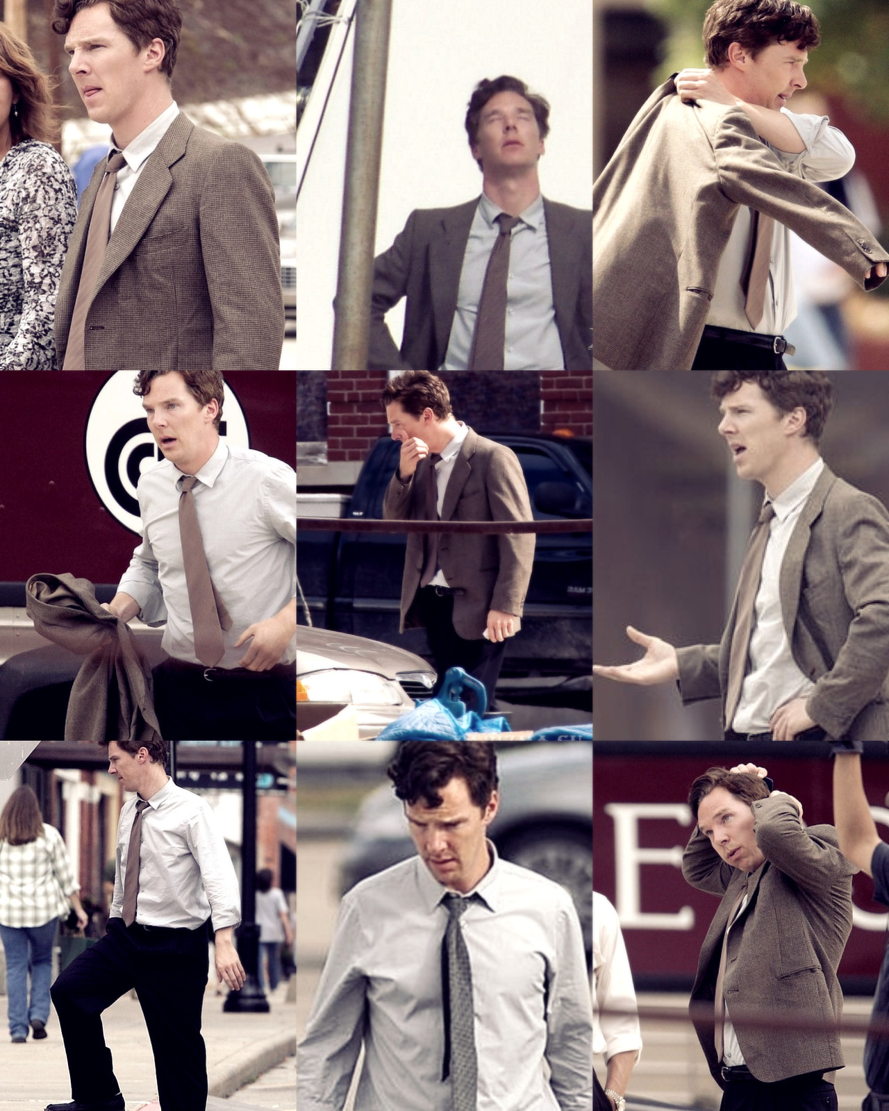 Benedict Cumberbatch on the set of  August: Osage County TOO FINE