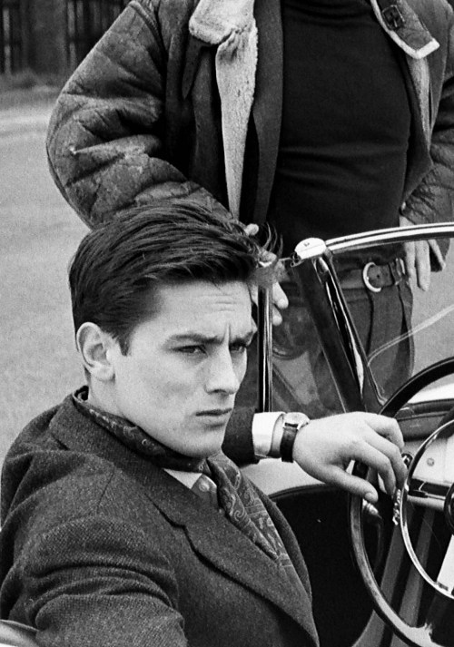 Alain Delon photographed in Paris, 1959.