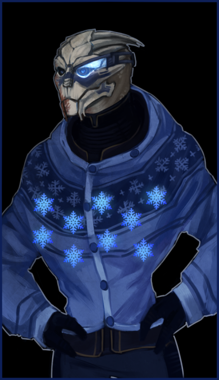 goddessofcheese:  spicyobsession:  weissidian:  OK I finished Garrus. Now I have beautiful festive sidebar images for both my main blog and my art blog, all is as it should be. Animated version:   omg.  seconding the omg and moving it to the floor