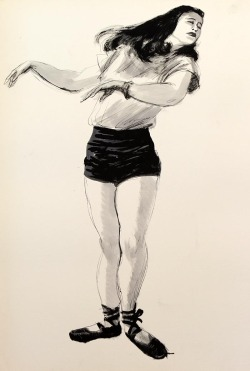 335. Figure drawing by Ward Kimball, ca. mid-1940s.