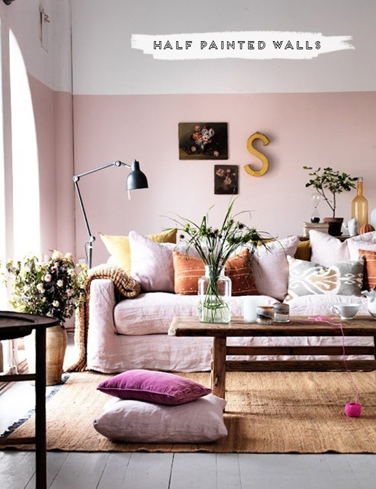 myidealhome:    half painted walls (via Home Sweet Home)
