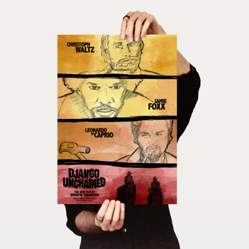 designersof:  Movie poster of Django Unchained by Emanuele Capponi. Click here to buy this poster.