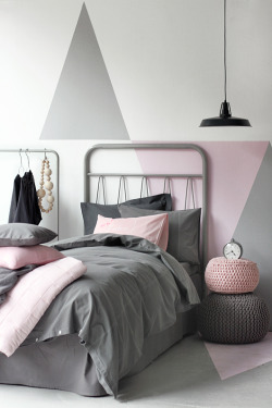 myidealhome:  pink and grey are so good together (via Trendenser.se)