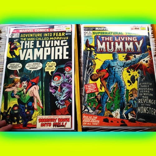#Marvel REALLY brought #horror to #life back in the 70s! #TheLivingVampire #TheLivingMummy #AdventureIntoFear #28 #1975 #SupernaturalThriller #8 #1973 … Actually bc of the #ComicCode I believe that is why #MarvelComics was forced to put #Living in front of their horror books' names. CC said no #undead characters!! #twd #NowYouKnowTheRestOfTheStory! #Comics #comicbooks #comicbookcrusader #nerd #geek