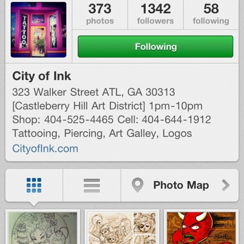 Follow @cityofink on instagram for special offers, contest, free tattoos, gifts, events, Etc…. #cityofink #COI #NewAtlanta