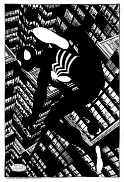 johnbyrnedraws:  Reimagined Spectacular Spider-Man #101 cover commission by John Byrne. 2009.