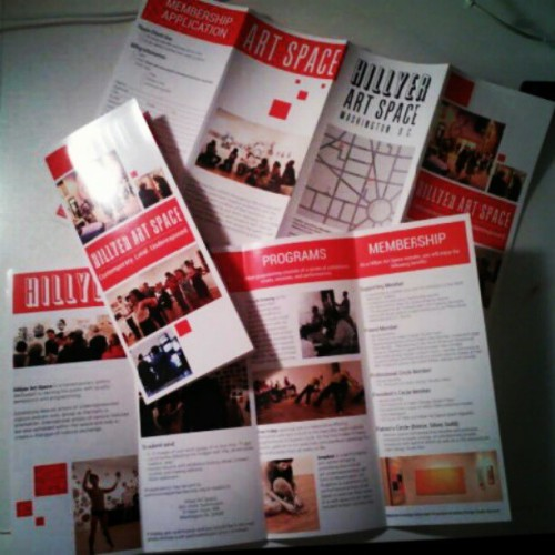 Redesigned the membership brochure for Hillyer Art Space, which they're now using in their gallery. Feels so good to finally see and touch it in real life after weeks of looking at it on the computer!