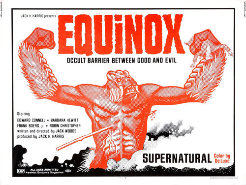 reeldeath:  A print for the 1970 film Equinox.  Cramming all the Criterion I can w/ a free HuluPlus trial.   This was first.