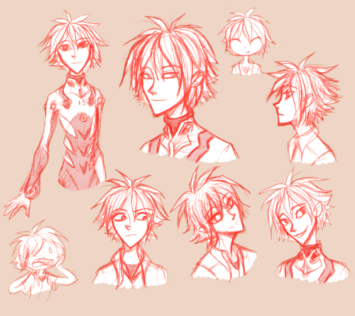 what is style consistency  oh god Eva spam alert sorry everyone. I've been dying to draw Kaworu since I saw the original series and I finally got around to it today (after seeing the gazillion 3.33 gifs on my dash). He's actually really fun to draw but his hair is difficult.  Also I found a red mechanical pencil lead today, rejoiced, then cried because it's a pain in the ass to erase and is so delicate that the pressure I normally draw with breaks it. Sob.