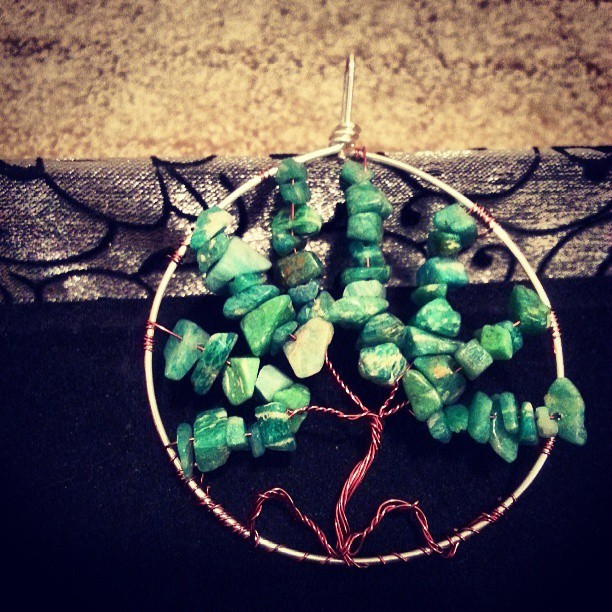 Tree of Life #Amazonite #treeoflife #jewelry #handmadeoasis #wirewrap