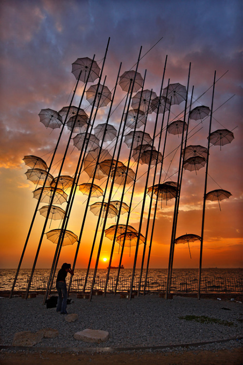 handa:  Photographing the Umbrellas, a photo from Thessaloniki, Macedonia | TrekEarth