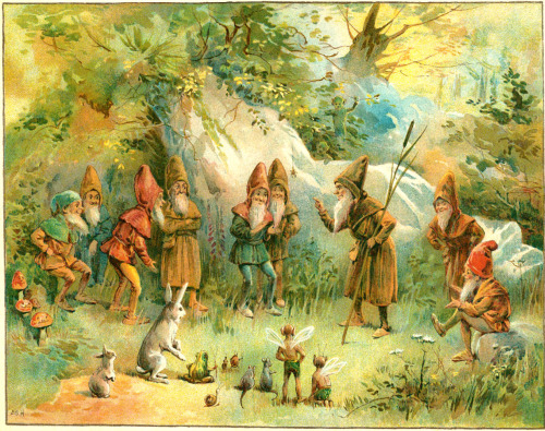 saveflowers1:  Art by E. Stuart Hardy (1895) from THE BOOK OF GNOMES.