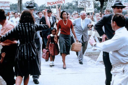 "blackgirlshairrock: ""  Ruby Bridges was the first African-American child to attend an all-white public elementary school in the American South. "" Holy shit. I can't even imagine."