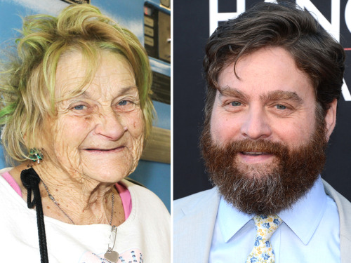 today:  Some good news for everyone:Zach Galifianakis pays rent for a formerly homeless woman.