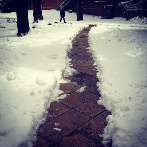 #snow #aprilweather (at St Catherine University)