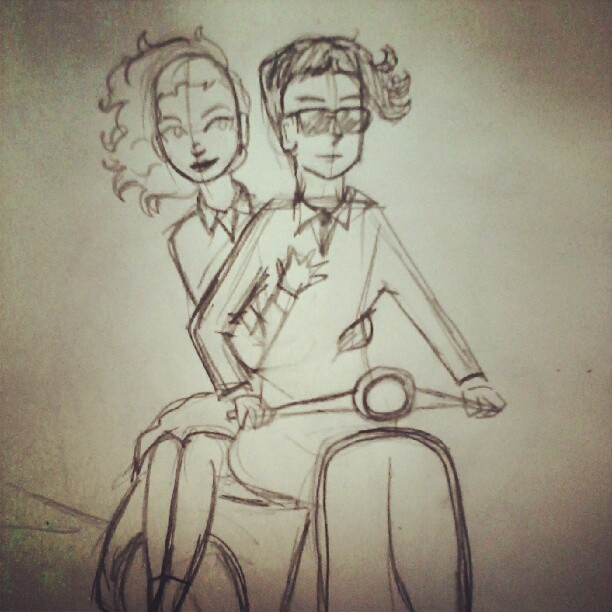 The wheel on this scooter is giving me trouble. #sketch #art #wip #illustration #mod #scooter #artwoes #artwork