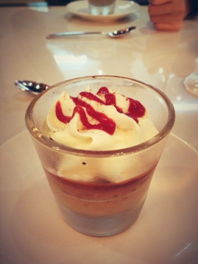 Chocolate Pot de Creme - that's not whipped cream, that's white chocolate! Path.