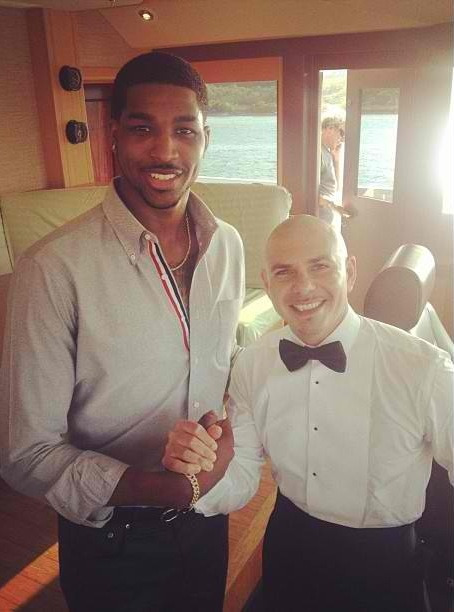 Cavs power forward Tristan Thompson absolutely dwarfing Pitbull amidst promotional work for Fiat earlier this week. Mr. Worldwide's apparently more Bogues than Bol.