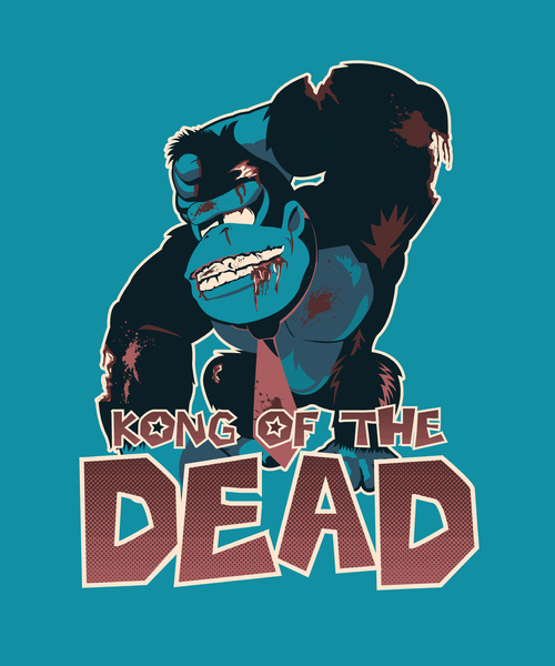 dotcore:  Kong of The Dead.by Moysche. Available on Redbubble and Society6.