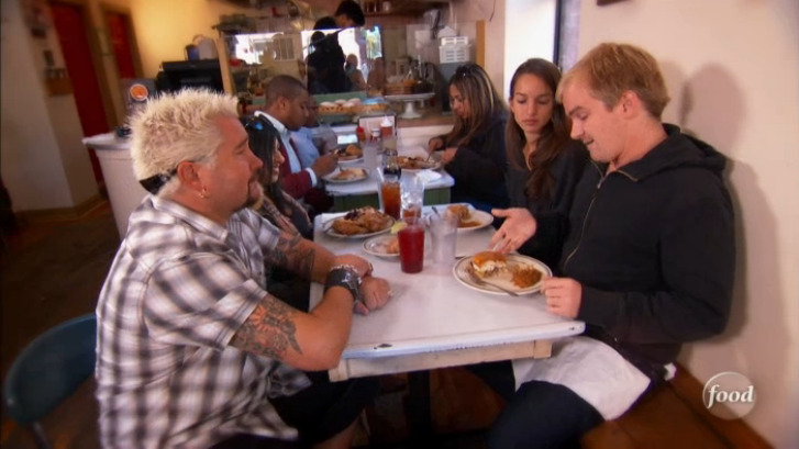 Television Star AND a foodie. My lunch with Guy Fieri at Pies n' Thighs aired last week on Diners, Drive ins and Dives. Link to show can be found here. (my first ever purchase from Amazon Video)