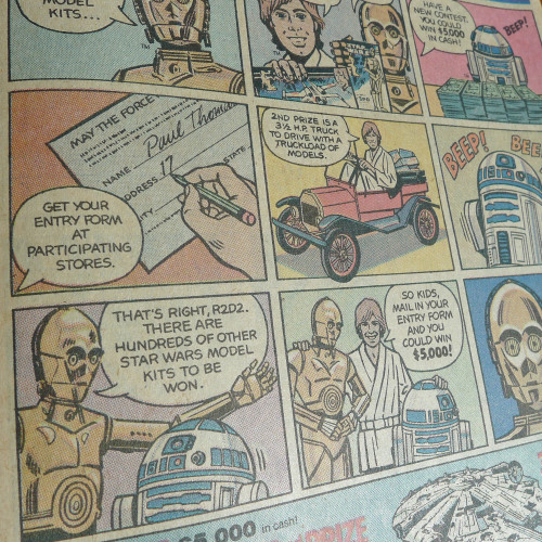 Back when Luke and the droids would shill for just about anything. From SHOGUN WARRIORS #12, 1980.