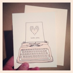 Finally listed, Valentines typewriter card! https://www.etsy.com/listing/121075593/letterpress-love-typewriter-valentine