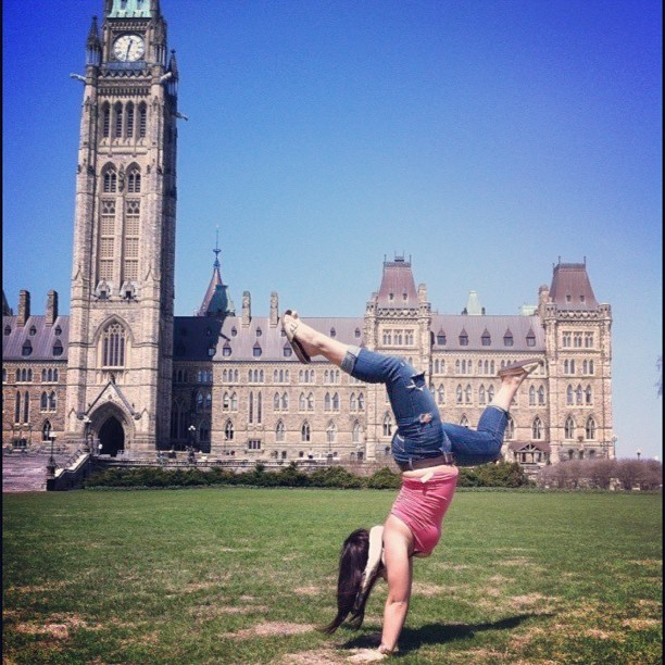 Capital handstands on a beautiful day #ottawa