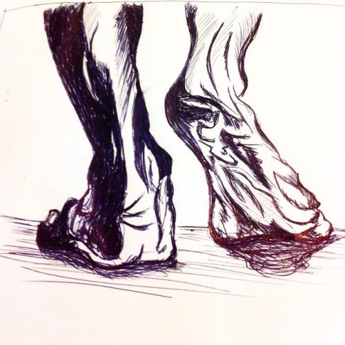 #art #artist #anatomy #lifedrawing #ink #ballpointpen #stylized #nawden #instagood #instaart #instamood #inkjoy #starvingartist #feet #light #shadow