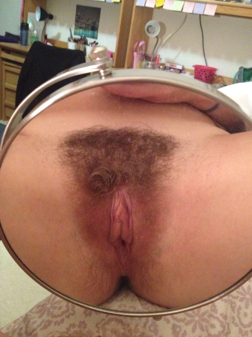 britumb823:  Hairy with big pussy lips, that's my girl