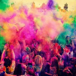9gag:  Today is the festival of colors also known as HOLI in India.