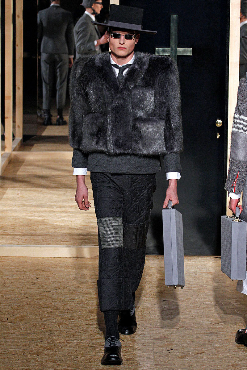 Thom Browne Otoño/Inviero2013Los nuevos Amish.__________Thom Browne Fall/Winter 2013The new Amish.