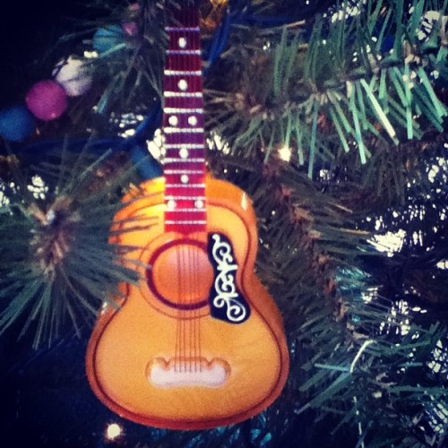 We put guitars on our Christmas tree.
