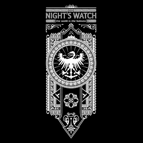 Night's Watch Banner by Oliver Ibáñez / posted by ianbrooks.me